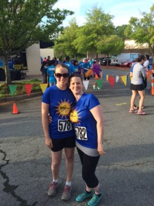 Me and Jessi before the run